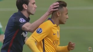 Godin teaches Neymar Atletico - Barca 13-04-2016 (HD)