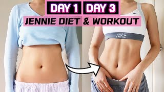 I TRIED BLACKPINK JENNIE'S DIET AND WORKOUT FOR 3 DAYS AND THIS HAPPENED! (KPOP DIET CHALLENGE)