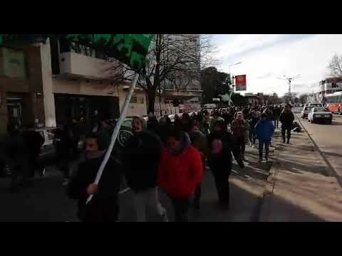 Se movilizaron empleados del ministerio de Gobierno por reclamos salariales