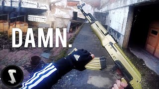 The Golden Overpowered Airsoft AK47 You Will WANT.