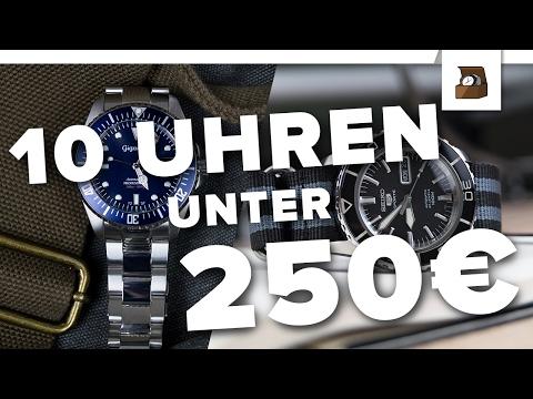 10 UHREN UNTER 250 EURO // Kaufratgeber#2 // Deutsch // FullHD