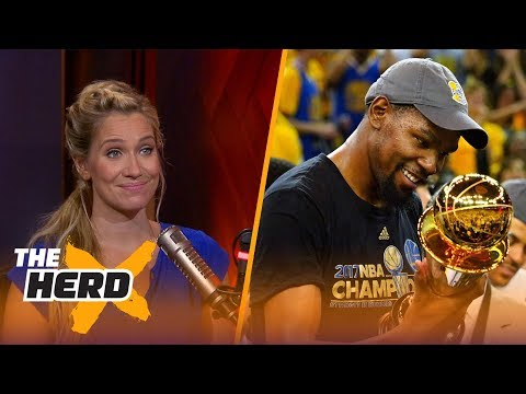 Kevin Durant mentions LeBron in tweets to Lil Dicky  – Kristine and Colin react | THE HERD