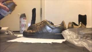 Spray painting my Adidas Superstars