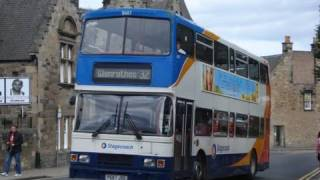 preview picture of video 'BUSES IN KIRKCALDY FIFE AUGUST 2010'