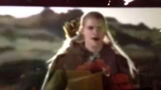 Хоббит, Леголас и рэп.  They taken the hobbits to Isengard gard gard (Они уносят хоббитов в Изенгард!)