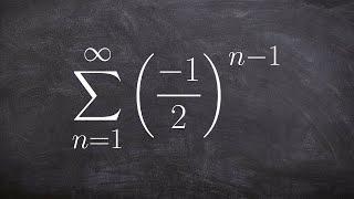 How to determine the sum of a infinite geometric series
