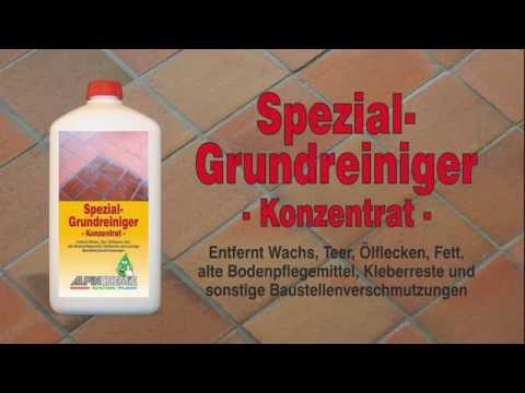 Spezial-Grundreiniger Anwendung, z.B. alte Wachsschichten von Terracotta Fliesen reinigen