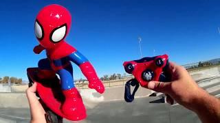 Spiderman Talking RC Skateboarder Skate Test Review