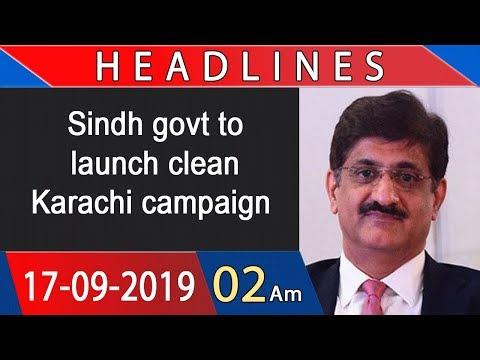 Headlines | 2 AM | 17 September 2019 | 92NewsHDUK