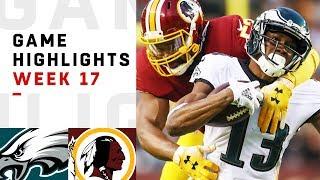 Eagles vs. Redskins Week 17 Highlights | NFL 2018