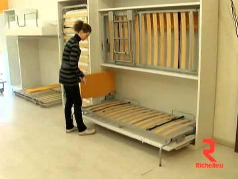 Lit mezzanine private 4rum - Comment faire un lit escamotable ...