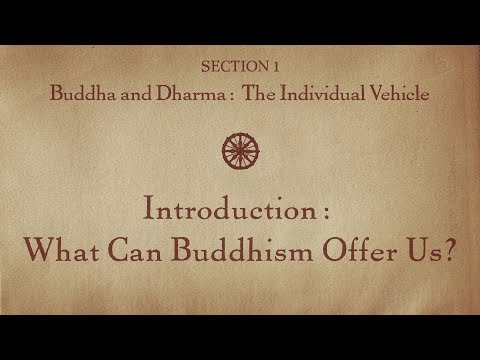 MOOC BUDDHA1x | 1.1 Introduction: What Can Buddhism Offer Us? | Buddha & Dharma: Individual Vehicle