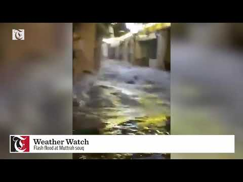Flash flood at Muttrah souq