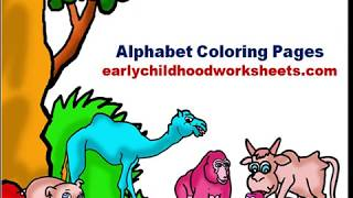 Alphabet Coloring Pages For Preschool And Kindergarten
