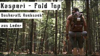 Mein Rucksack für Tagestouren - Kasperi Fold Top Moss Green - Bushcraft Leder Backpack