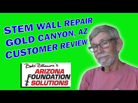 Gold Canyon, AZ Stem Wall Repaired