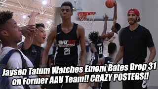 Emoni Bates POSTERS Defender w/ Jayson Tatum Watching!! #1 Freshman Drops 31 vs Tatum's Old AAU Team