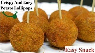 Potato Lollipop Recipe – Easy evening tea snacks recipes / Veg Party starters appetizer dish ideas