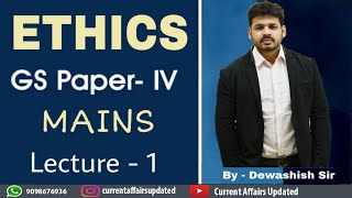 Ethics-Lecture 1 Basics of Ethics