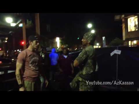 Military slap (Slapped for saying he's military)