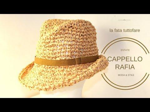 TUTORIAL: cappello rafia/ cappello tipo fedora/ fedora hat**lafatatuttofare