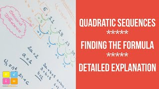 Quadratic Sequences - How To Find The Formula For The N-th Term