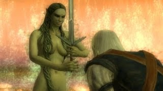 Lady of the Lake Makes Geralt Her Knight (Witcher 1 | Goddess Knighting Scene)
