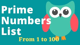 Prime Numbers List From 1 to 100 For Kids