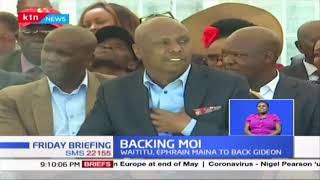 Waititu shift allegiance to Gideon Moi after ouster as Mt.Kenya leaders converge at Kabarak
