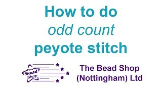 How to do odd count peyote