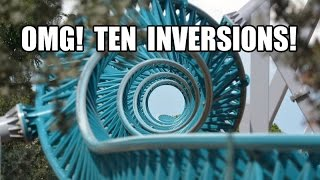 Altair CCW 0204 10 Inversion Roller Coaster POV Cinecitta World Italy