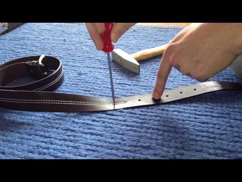 Tutorial: Wie man Löcher in einen Gürtel stechen - Alternative zur Lochzange