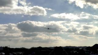 2013年10月6日鶉野飛行場平和祈念祭軽飛行機慰霊飛行