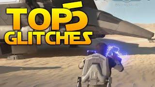 Star Wars Battlefront Top 5 EPIC GLITCHES! (Finn 2.0, Fett Malfunction & More)