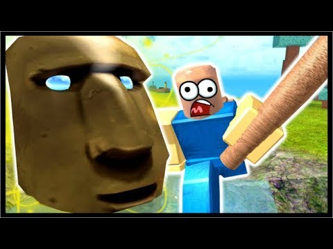 Destroying The Old God On Sky Island Roblox Booga Booga