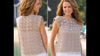 Вязаная Кофточка на Лето Крючком - модели - 2018 / Knitted Blouse on Summer Crochet