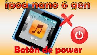 Ipod Nano 6 Gen Falla En Botón De Encendido, Power Button Repair