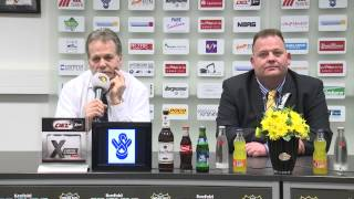 preview picture of video 'Pressekonferenz Spiel Krefeld Pinguine - Kölner Haie 17.02.2015'