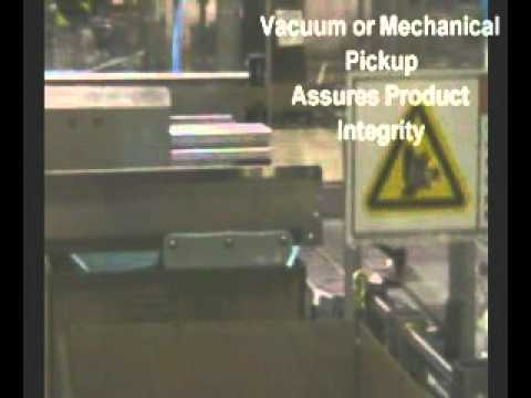 Empacadora Pick & Place con aplicaciones de carga superior.