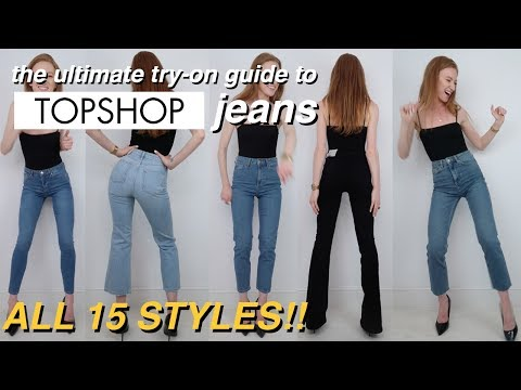 The ultimate try-on guide to Topshop jeans | EVERY STYLE! | 2018
