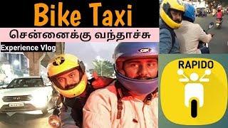 Bike Taxi in Chennai || RAPIDO || Chennai Vlogger - Tamil