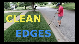 How To Have CLEAN EDGES In The Lawn
