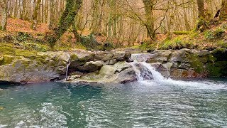 Relaxing Sound Of Mountain River. 8 Hours of Relaxing Video in 4K.