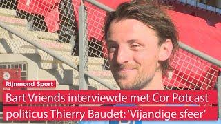 Sparta-verdediger Bart Vriends over podcast met Thierry Baudet: 'Op sommige punten best wel goed'
