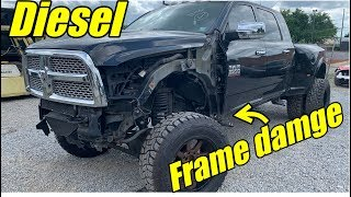 Rebuilding A Lifted Ram 3500 Diesel With Frame Damage!!!