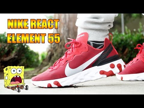 NIKE REACT ELEMENT 55 REVIEW + ON FEET!!!