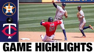 لعبة أستروس ضد التوائم (6/13/21)   يسلط الضوء على MLB