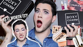 BOXYCHARM DOUBLE UNBOXING! Premium vs Base Box | October 2020 try on haul by Manny Mua