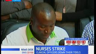 Clinical officers join nurses in their cry for better pay