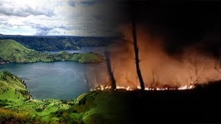 Personel Damkar Samosir Padamkan Titik Api di Perbukitan Sekitar Danau Toba